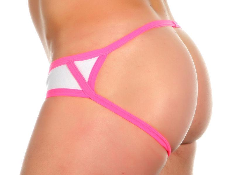 Трусы мужские джоки белые с розовой окантовкой Van Baam 37215