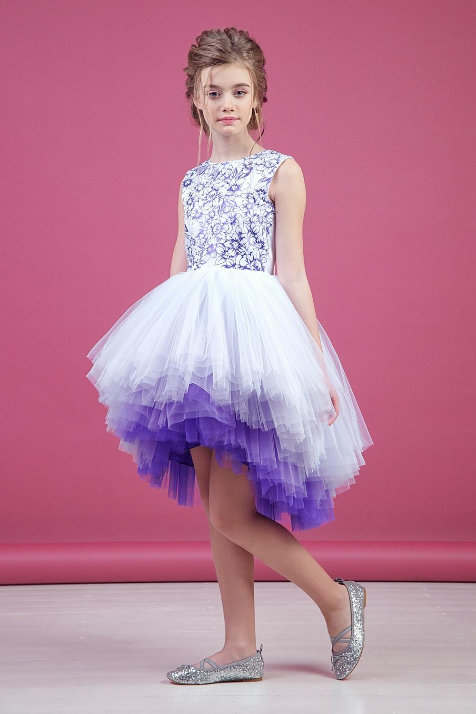 Платье белое для девочки 38-9009-4