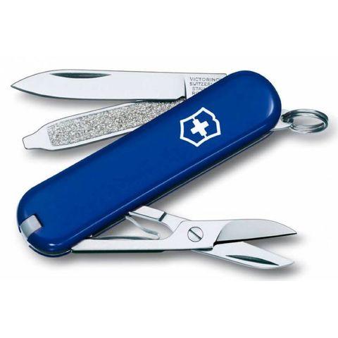 Нож перочинный Victorinox Classic (0.6223.2) 58мм 7функций синий