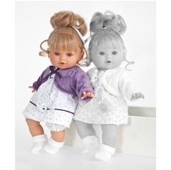 Munecas Antonio Juan Озвученая кукла Леонора в фиолетовом, 33 см (1334V)