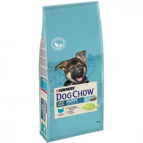 Dog Chow Puppy Large Breed для щенков крупных пород с индейкой