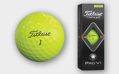 Titleist ProV1 yellow Gift Box