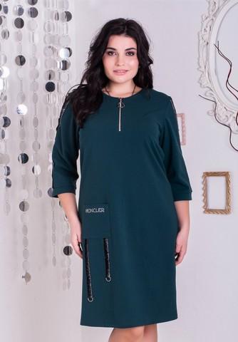 Эльга. Нарядное платье больших размеров. Изумруд