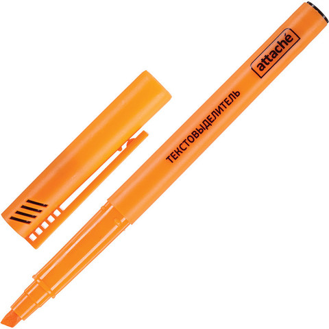 Текстовыделитель Attache оранжевый (толщина линии 1-3 мм)