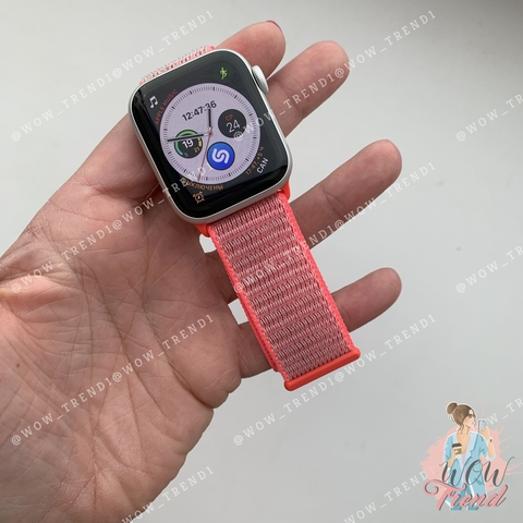 Ремешок Apple watch 38mm Nylon Sport Loop /coral/