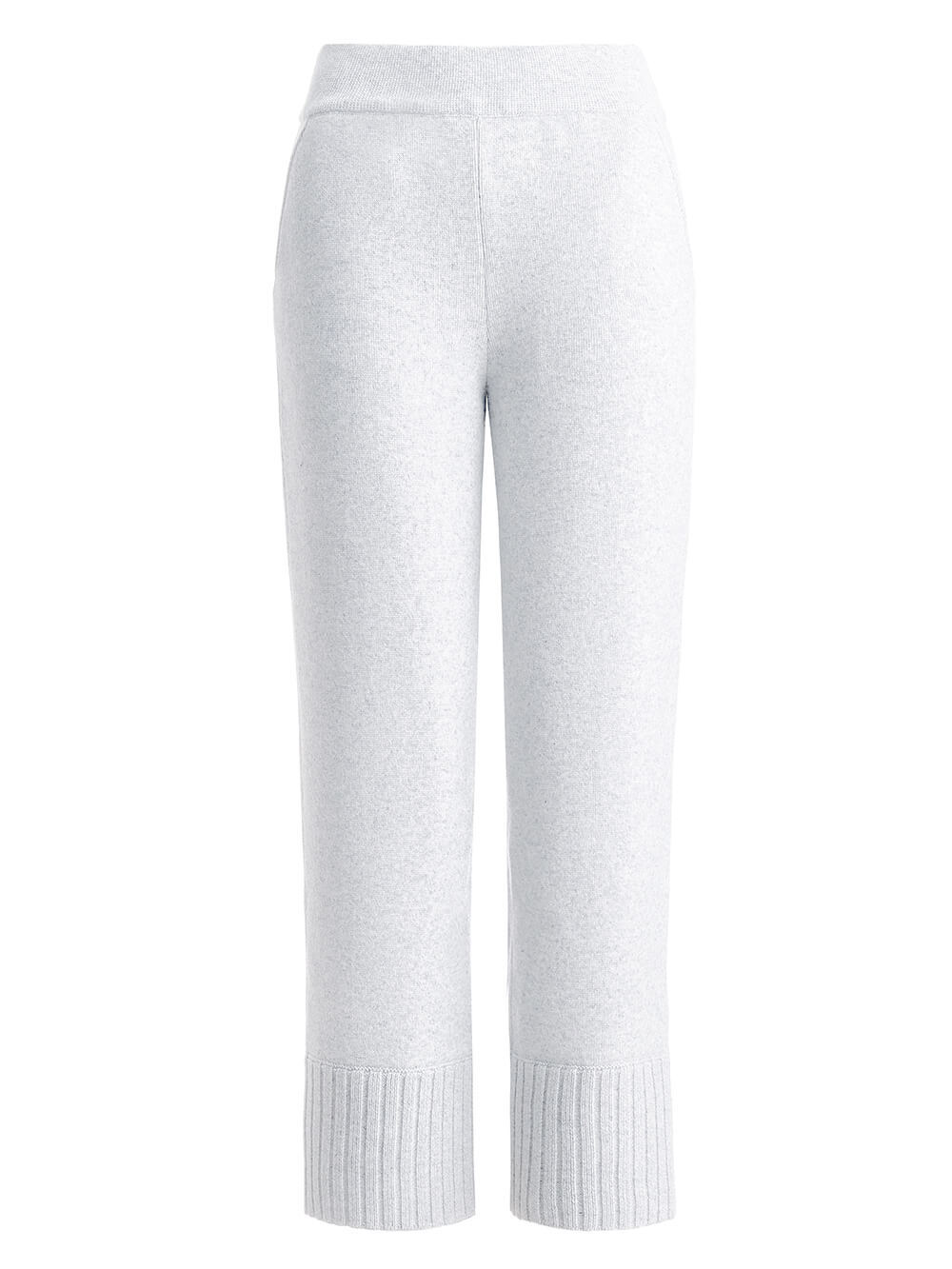 Женские брюки белого цвета из шерсти - фото 1