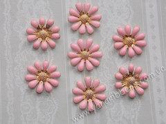 Металлический декор Ромашки розовые