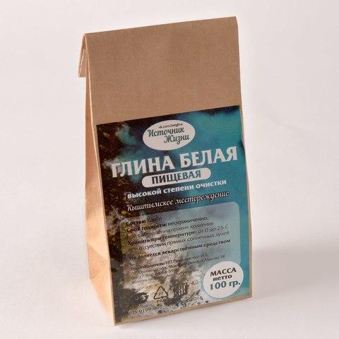 Источник жизни глина белая 100 г бумажный пакет