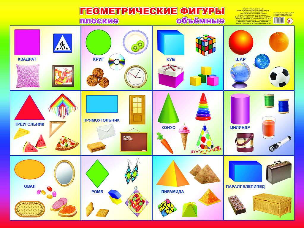 Картинки к изучению геометрических фигур для детей
