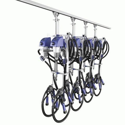 Подвесная линия   Счетчики молока для подвесной линии