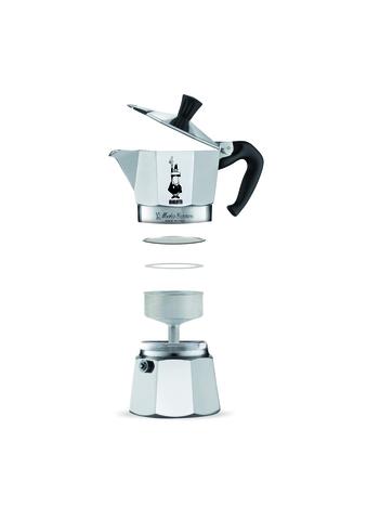 Bialetti Moka Express, Гейзерная кофеварка на 6 порций (Металлик)