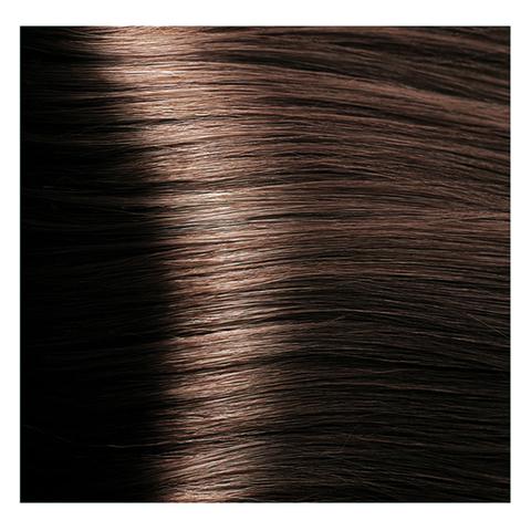 Крем краска для волос с гиалуроновой кислотой Kapous, 100 мл - HY 5.23 Светлый коричневый перламутровый