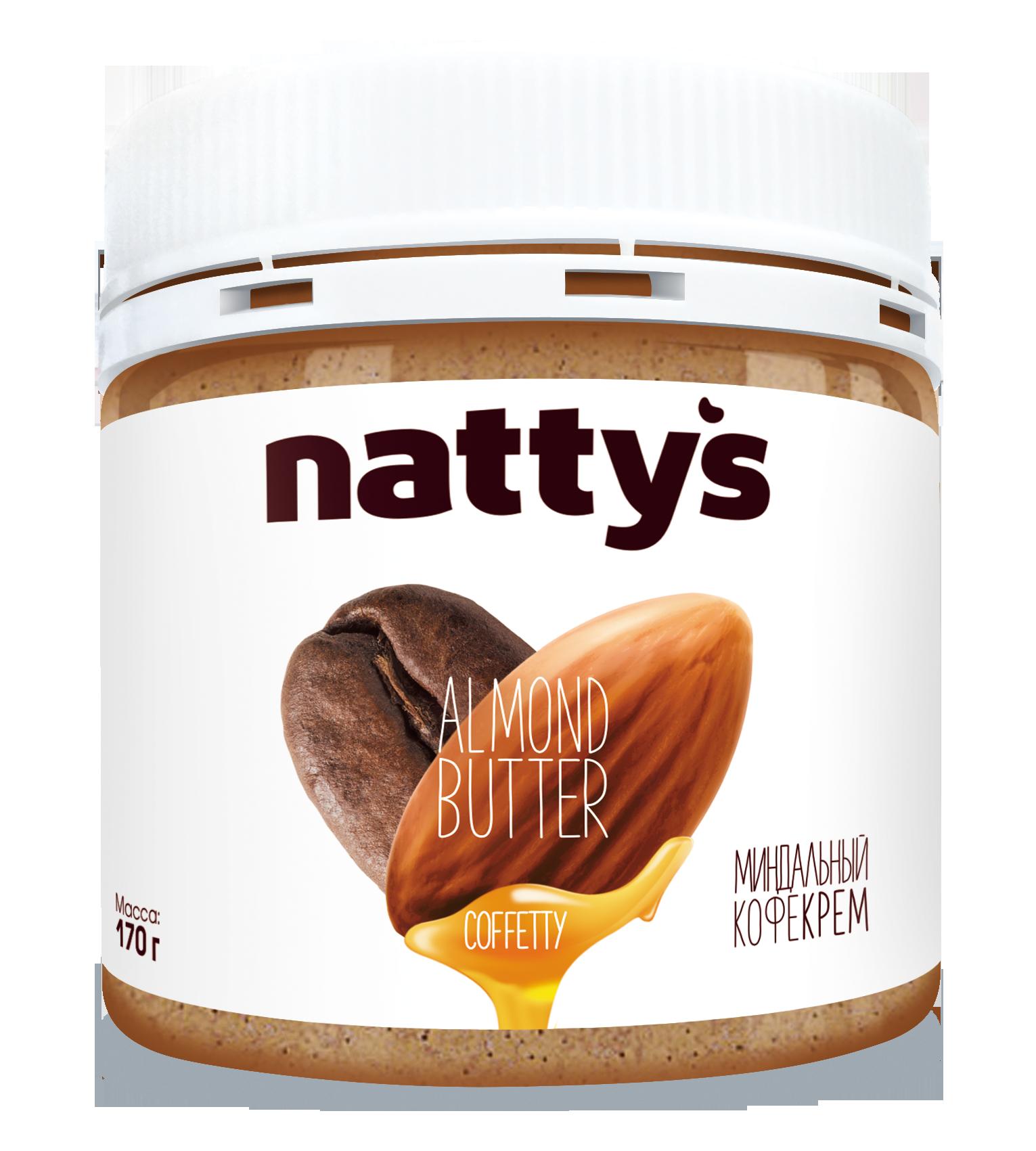 Миндальная крем-паста c кофе NATTY'S 170 г