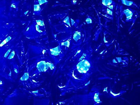 Штора-гірлянда Кришталь 180 LED E 1.5 на 1.5 м. кольорова