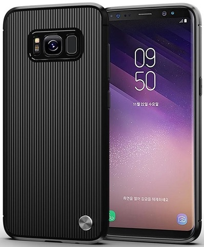 Чехол Samsung Galaxy S8 цвет Black (черный), серия Bevel, Caseport