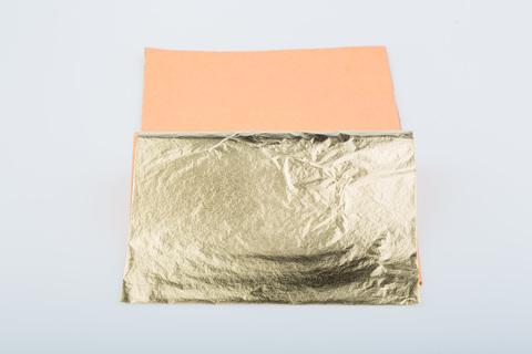 Поталь Ferrario 14х14, 25 листов, имитация золота, 12 книжек