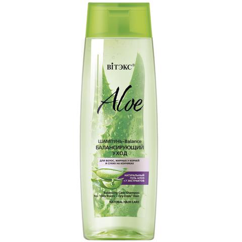 Витэкс Aloe 97% Шампунь-Balance Балансирующий уход для волос, жирных у корней и сухих на кончиках 400мл