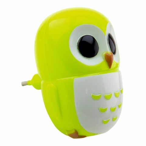 Детский ночник Сова LE LED NL-820 0,6W Зеленый