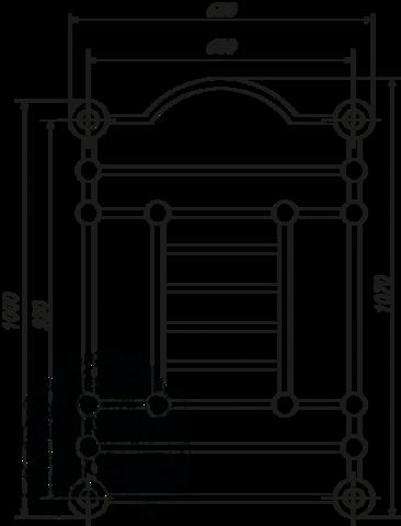 Полотенцесушитель электрический высокий Migliore Edward ML.EDW-EL.510 93см.