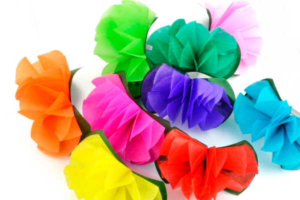 Цветы из шляпы