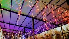 Бахрома светодиодная уличная 3*0,7м 600LED хол/бел