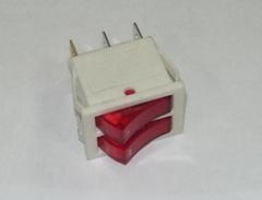 Выключатель 2- клавишный, белый, с подсветкой 66330