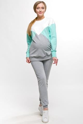 Спортивный костюм для беременных и кормящх 11500 серый