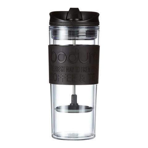 Кружка с прессом Bodum Travel (0,45 литра), черная