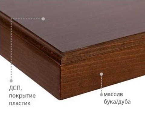 Столешница с кромкой из массива 1200*800*37 мм