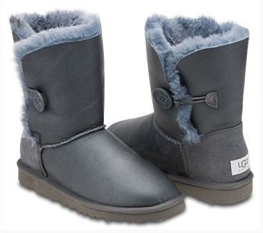 UGG Bailey Button Metallic Grey