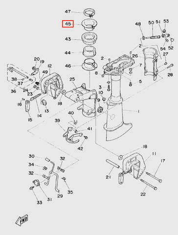 Втулка дейдвуда для лодочного мотора T5 Sea-PRO (10-45)