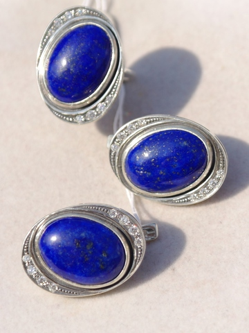 Венета (кольцо + серьги из серебра)
