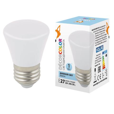 LED-D45-1W/6000K/E27/FR/С BELL Лампа декоративная светодиодная. Форма
