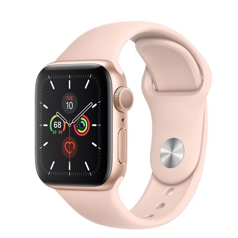 Часы Apple Watch Series 5 GPS 40mm Aluminum Case with Sport Band Золотистый/Розовый Песок