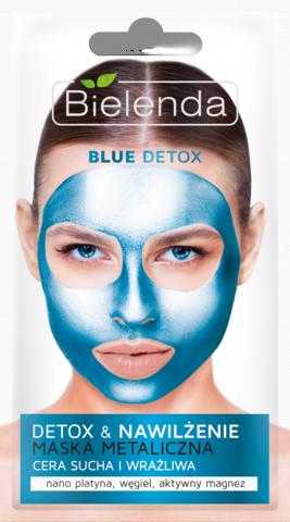 BLUE DETOX Маска с содержанием металлов для сухой и чувствительной кожи, 8 г
