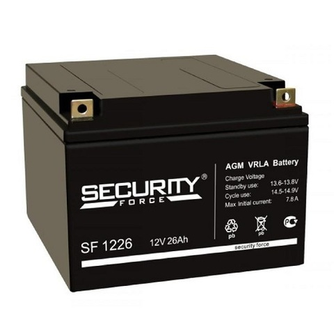 SF 1226 аккумулятор 12В/26Ач Security Force