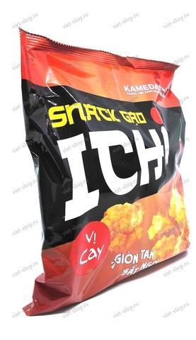 Вьетнамские рисовые чипсы со вкусом Чили Kameda, 150гр.