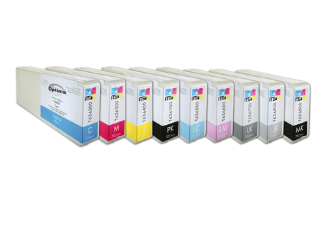 Комплект из 9 картриджей Optima для Epson SC-P6000/P8000 9x700 мл