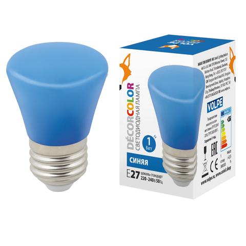 LED-D45-1W/BLUE/E27/FR/С BELL Лампа декоративная светодиодная. Форма