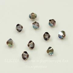 5328 Бусина - биконус Сваровски Crystal Iridescent Green 4 мм, 10 штук