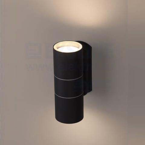 Декоративная подсветка ЭРА WL28 BK 2*GU10 IP54 черный