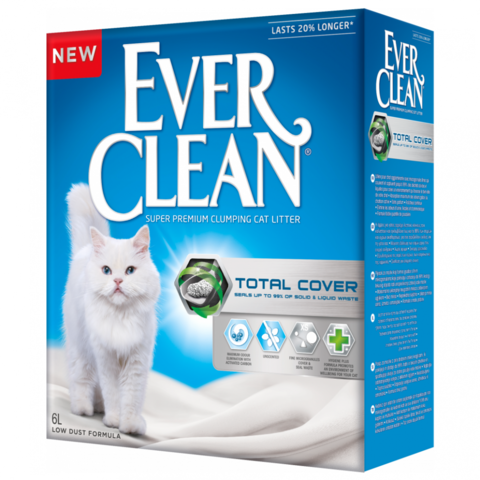 Ever Clean Total Cover комкующийся наполнитель с микрогранулами двойного действия д/кошек (6 л)