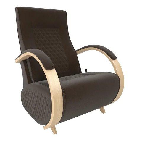 Кресло-глайдер Balance Balance-3 с накладками, натуральное дерево/Verona Brown, 014.003