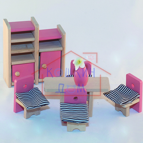 Деревянная кукольная мебель