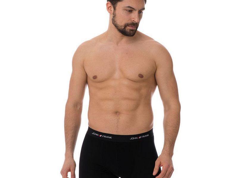 Трусы мужские боксеры набор 3 в1 черные JOHN FRANK