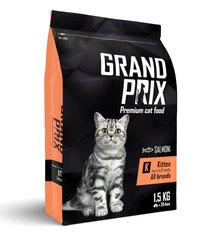 Grand Prix Kitten сухой корм для котят с лососем 1,5 кг