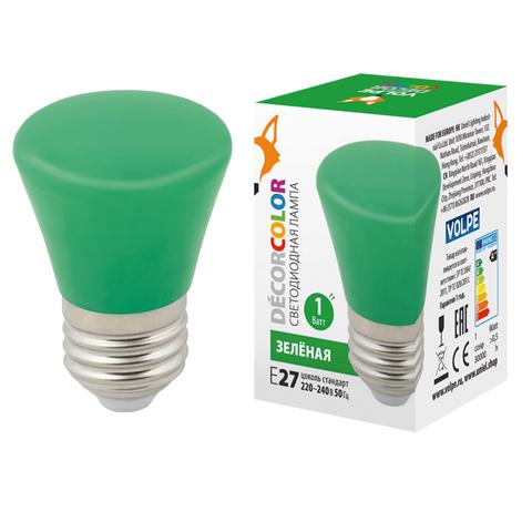 LED-D45-1W/GREEN/E27/FR/С BELL Лампа декоративная светодиодная. Форма