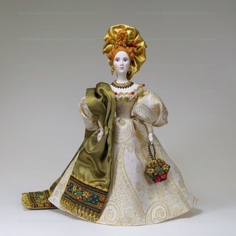 Кукла в костюме середины 19 века