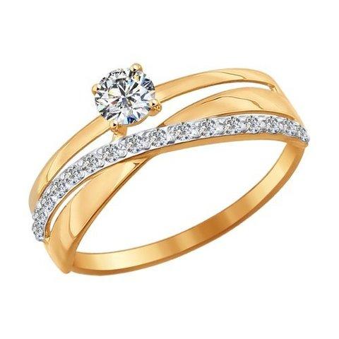 016898- Кольцо из золота с фианитами