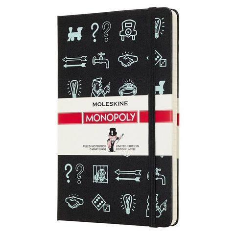 Блокнот Moleskine Limited Edition MONOPOLY LEMOQP060 Large 130х210мм 240стр. линейка прошитый Icons